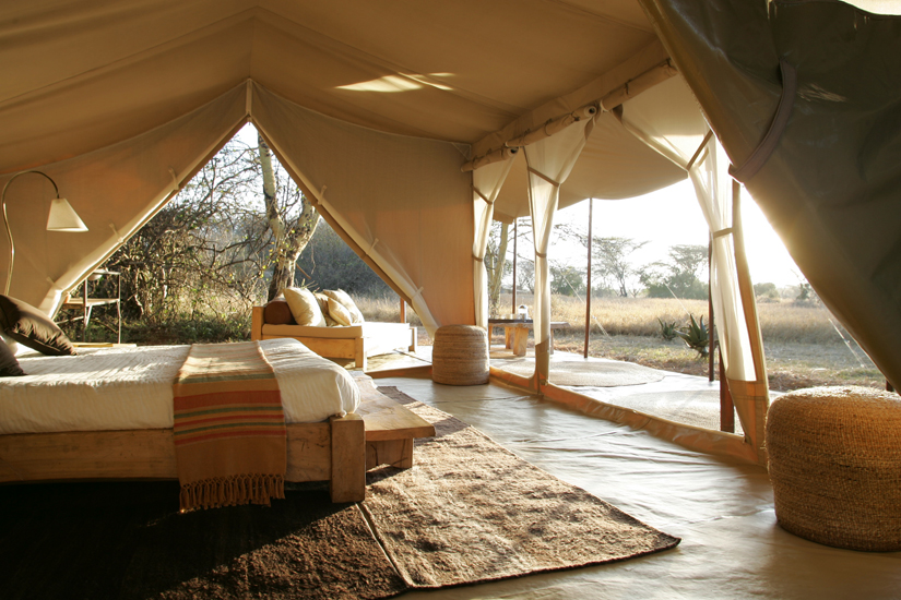 inside tent 8