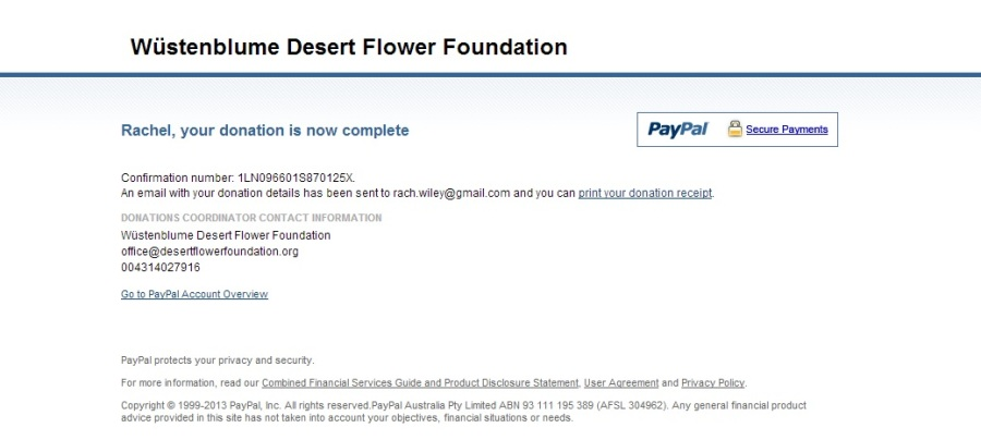 desert flower donation